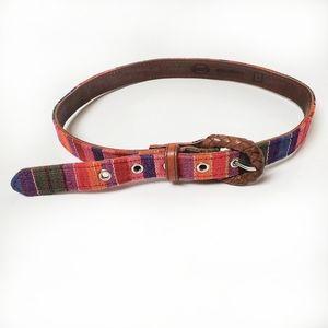 Fossil Serape Woven Leather Belt